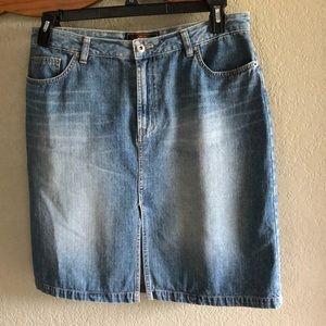 Route 66 Sz 11/12 Denim Zip Front 5-Pocket Skirt